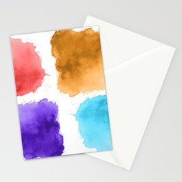 watercolor patch collection Stationery Cards
