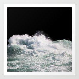 Water Photography | Wild Rapids | Waves | Ocean | Sea Minimalism Art Print