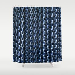Teal Chains Shower Curtain