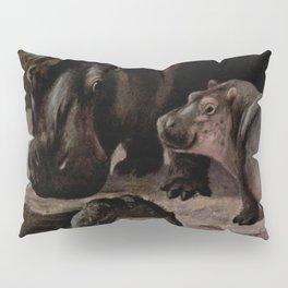 Vintage Hippopotamus Painting (1909) Pillow Sham