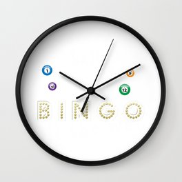 Bingo Christmas Bingo All The Way Wall Clock