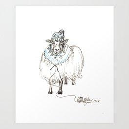 Knitwear Sheep Art Print