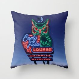 The Empty Field Lounge Throw Pillow