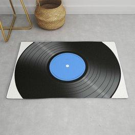 Music Record Blue Rug