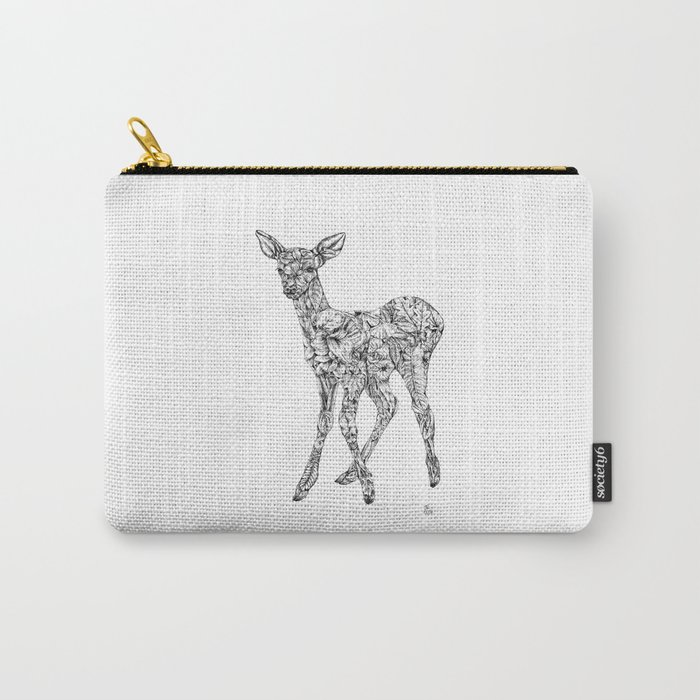 Leafy Deer Carry-All Pouch