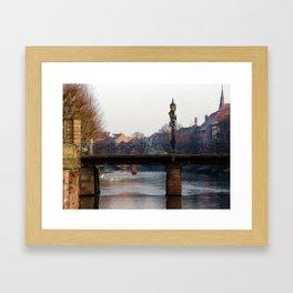 Bridge in Strasbourg Framed Art Print