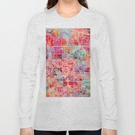 Pembroke Pines map Florida painting 2 Long Sleeve T-shirt