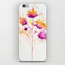 Blot Flowers iPhone Skin