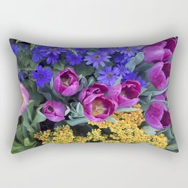 Floral Spectacular: Blue, Plum and Gold - Olbrich Botanical Gardens Spring Flower Show, Madison, WI Rectangular Pillow