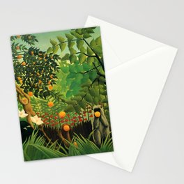 "Henri Rousseau ""Exotic landscape"", 1910 Stationery Cards"