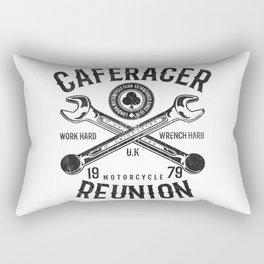 Cafe Racer Reunion Vintage Tools Poster Rectangular Pillow