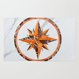 Wind rose ~ Inlaid marble Rug
