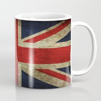 union jack Mugs featuring Union Jack by Bethan Eastwood