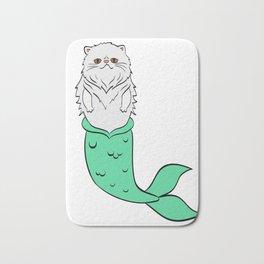 Mermaid Persian Cat Swimming Sea Ocean Beach Fish Perfect Gift for Cat Lovers A Persian Cat Tee Bath Mat