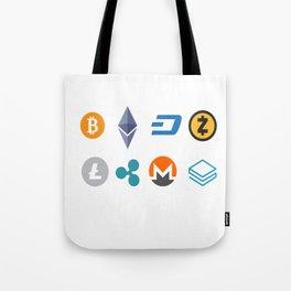 Cryptocurrencies Tote Bag
