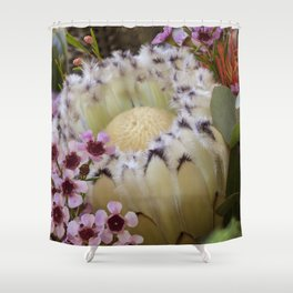 Beautiful Feather Protea Shower Curtain