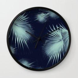 Fan Palm Leaves Paradise #9 #tropical #decor #art #society6 Wall Clock