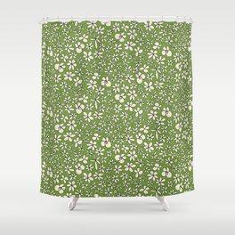 garland flowers green Shower Curtain