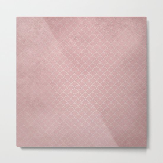 Grunge textured rose quartz small scallop pattern by hereswendy