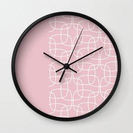 Square Pattern Pink II Wall Clock