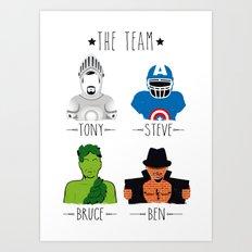 THE TEAM Art Print
