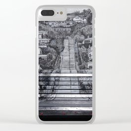 Steepest Street Bench Clear iPhone Case