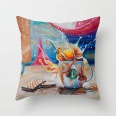 Coffee Splash! Throw Pillow