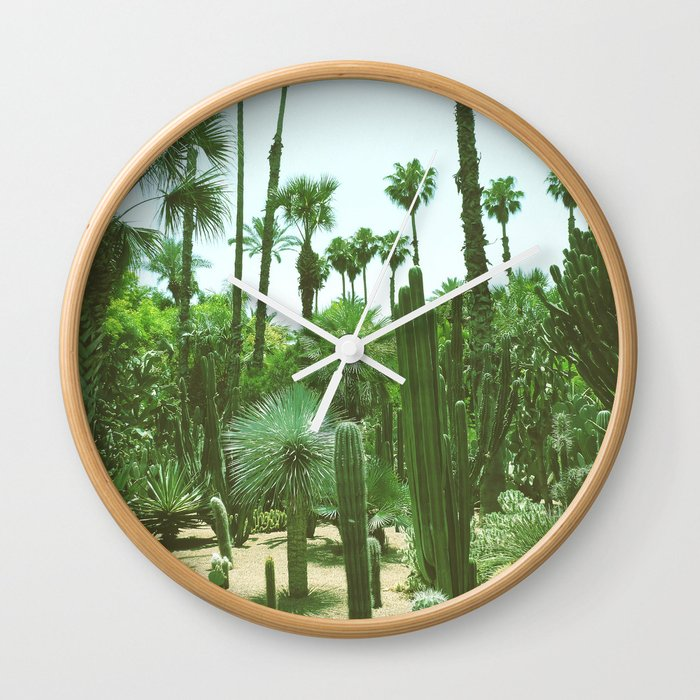 Tropical Cacti Gardens Wall Clock
