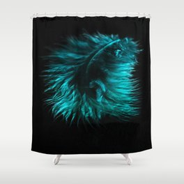 Feather in green-turquoise Shower Curtain