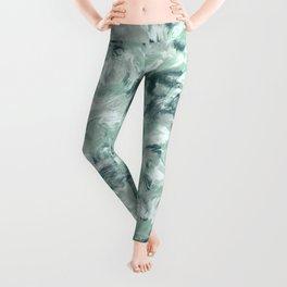 Marble Mist Green Grey Leggings