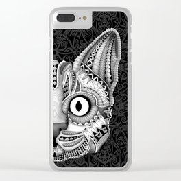 Egypt cat aztec pattern art iPhone 4 5 6 7, pillow case, mugs and tshirt Clear iPhone Case