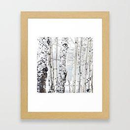 White Tree 2 Framed Art Print