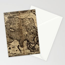 Map Of Asia 1630 Stationery Cards