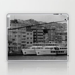 fishing on the Galata Bridge Laptop & iPad Skin