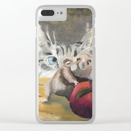 Cat & Mouse Clear iPhone Case