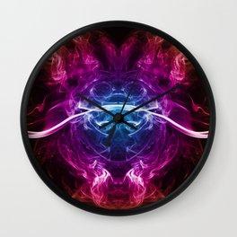 Smoke Art 7 Wall Clock
