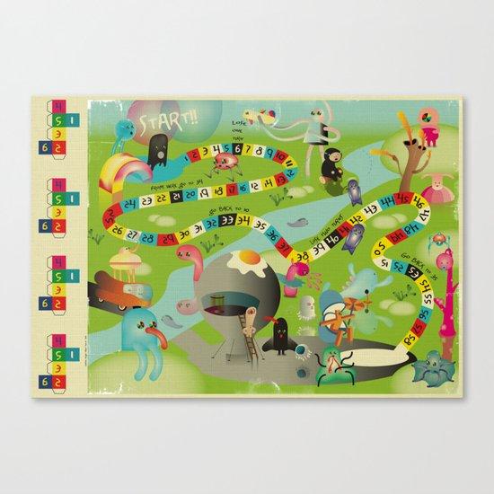 JeU De l'Oie Canvas Print