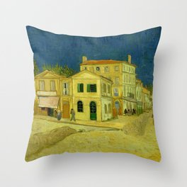 Vincent Van Gogh - The Yellow House Throw Pillow