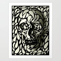 illusion Art Prints featuring Skull by Ali GULEC