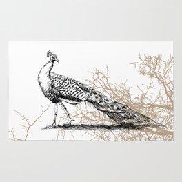 Peacock print Rug