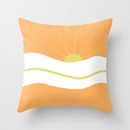 """"""" Orange days """" Throw Pillow"""