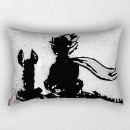The little prince and the fox - stencil for the LIFE CURRENT WALL series Rectangular Pillow