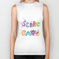 risa rodil Biker Tanks featuring We Scare Because We Care by Risa Rodil