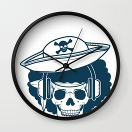RnB Music Funny Pirate Afro Blues Rythm Gift Wall Clock