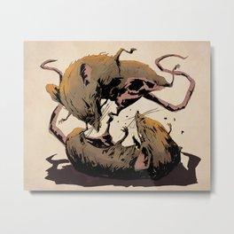 rat fight Metal Print