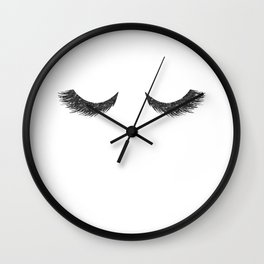 Lashes Black Glitter Mascara Wall Clock