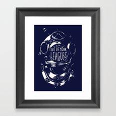 never date a diver Framed Art Print