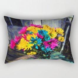 Spring daisies on The Porch Rectangular Pillow
