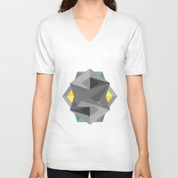 shield V-neck T-shirts featuring Shield by Tracy