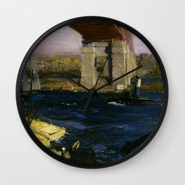 The Bridge, Blackwell's Island by George Bellows Wall Clock